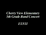 Cherry View Elementary 5th Grade Band Concert