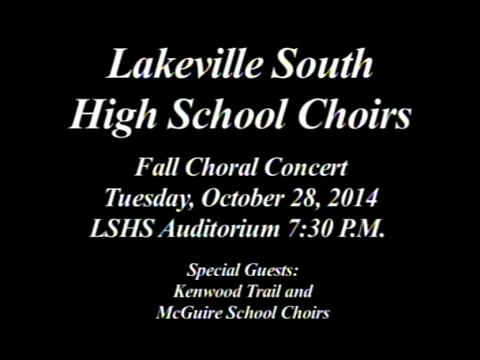 LSHS Fall Choir Concert