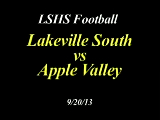 LSHS Football vs Apple Valley