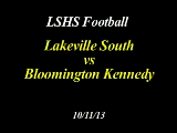 LSHS Football vs Kennedy