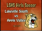 LWSHS Girls Soccer vs Apple Valley