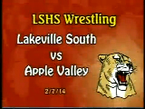 LSHS Wrestling vs Apple Valley
